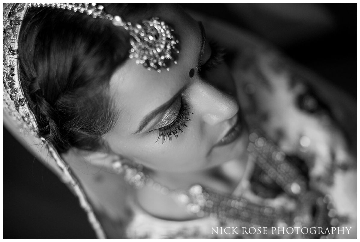 Hindu bridal makeup by Krishnamakeup for a wedding at The Grove