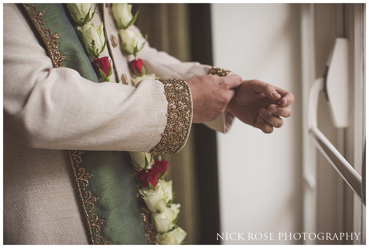 Hindu groom getting ready for a wedding ceremony at The Grove