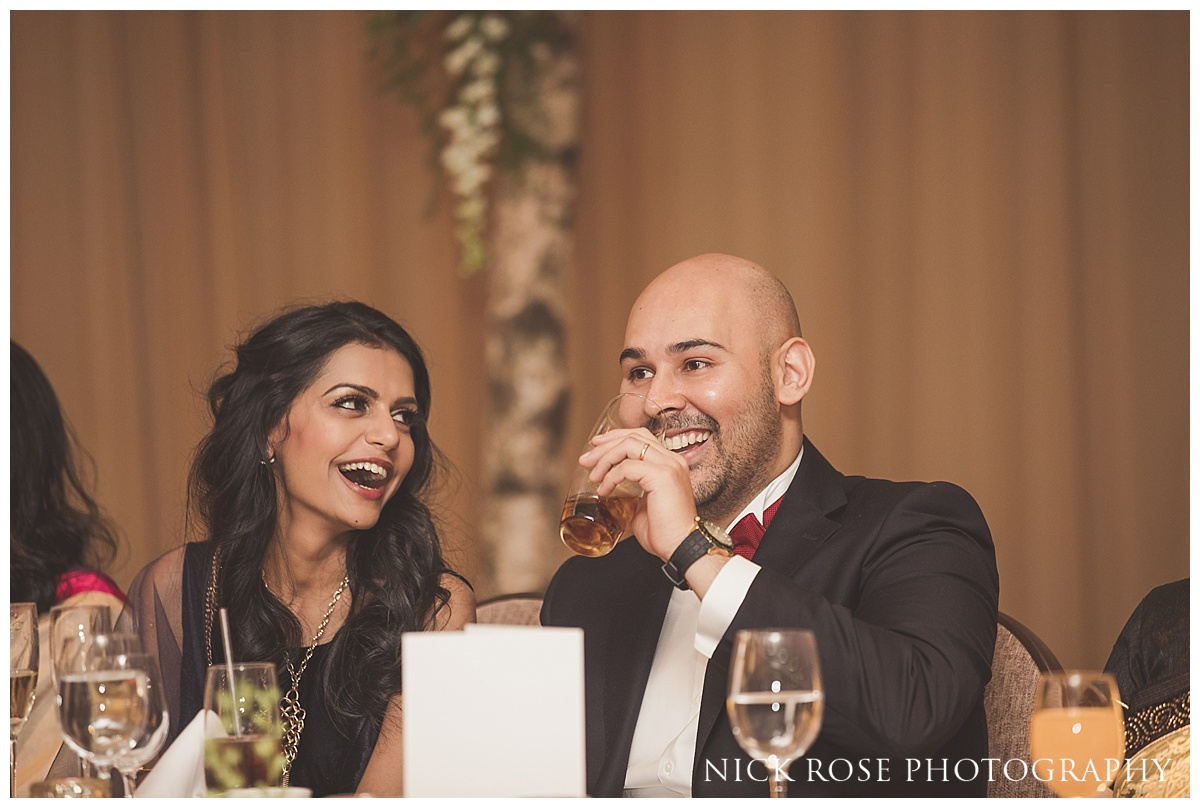 Hindu wedding reception toasts at The Grove in Chandler's Cross in Watford