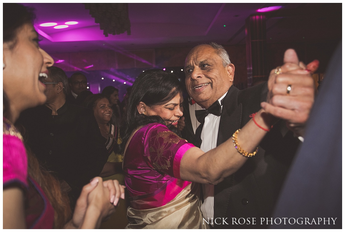 The Grove in Watford Hindu wedding reception party and dancing