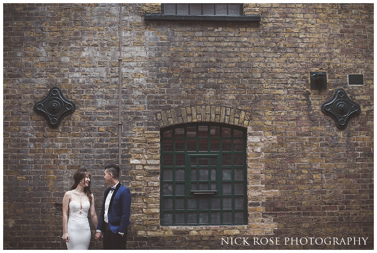 Shad Thames pre wedding photography in London