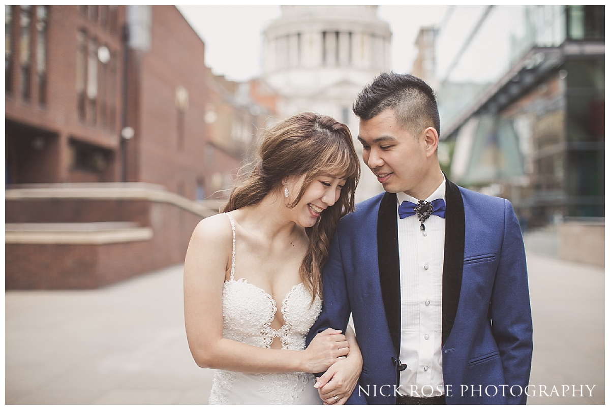 St Pauls pre wedding photography in London