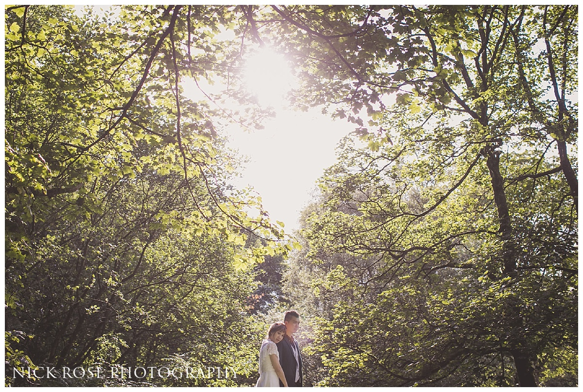 UK countryside pre wedding photography in Gradbach near the River Dane in the Peak District