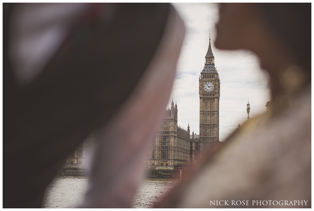 Big Ben pre wedding photography in London