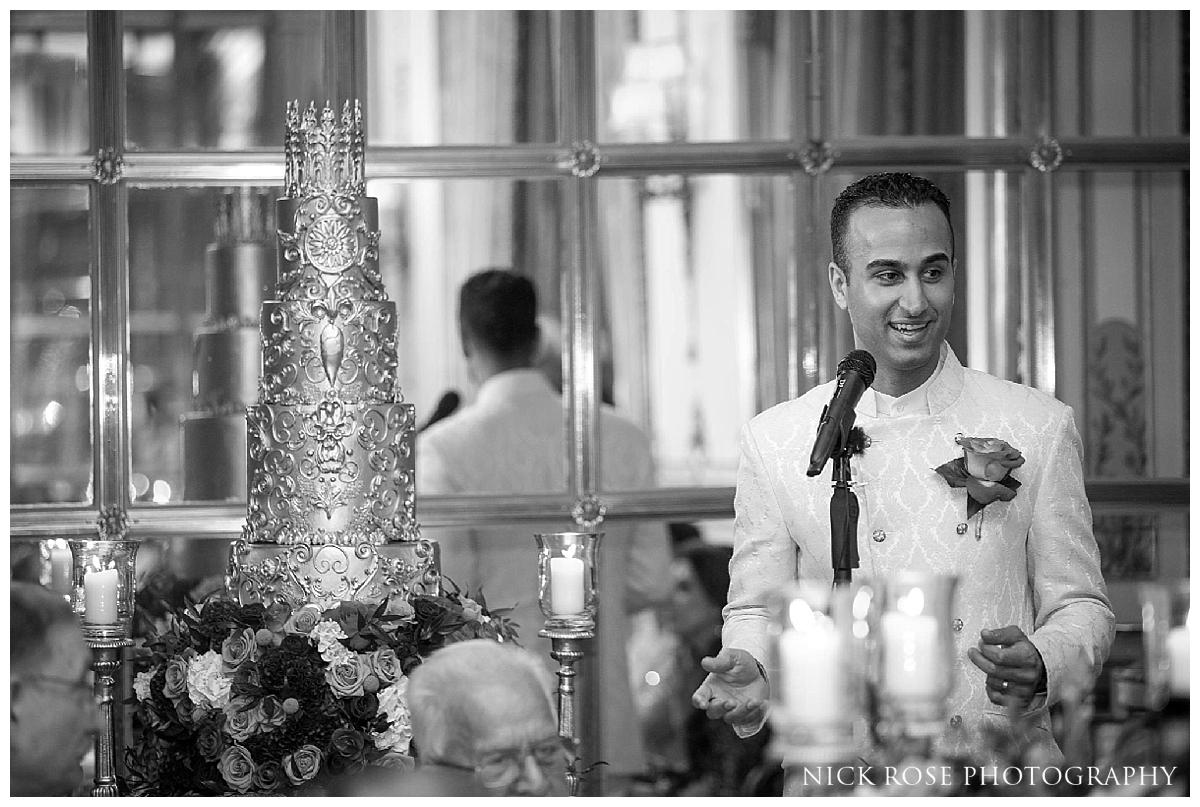 Groom wedding speech for a Ritz Hotel Asian wedding in London