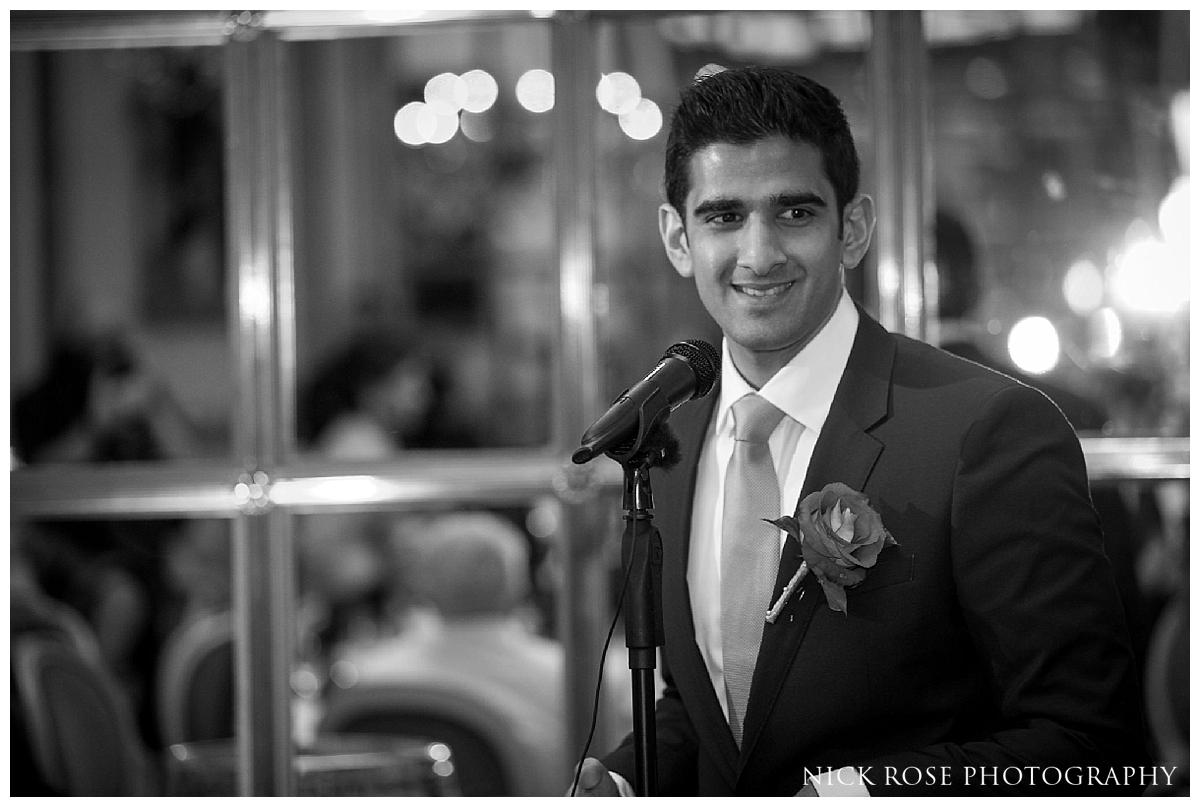 Best man wedding speech for a Ritz Hotel Asian wedding in London