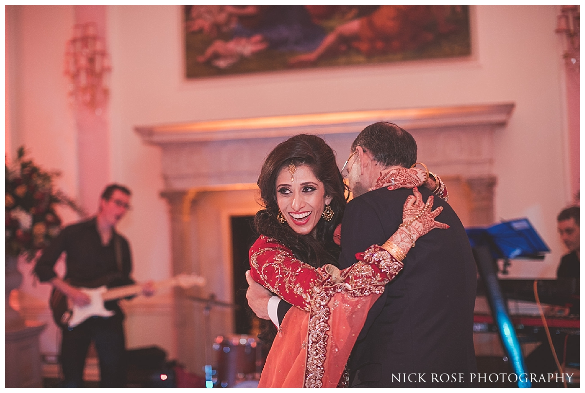 Father and daughter first dance in the Music Room at the Ritz in London