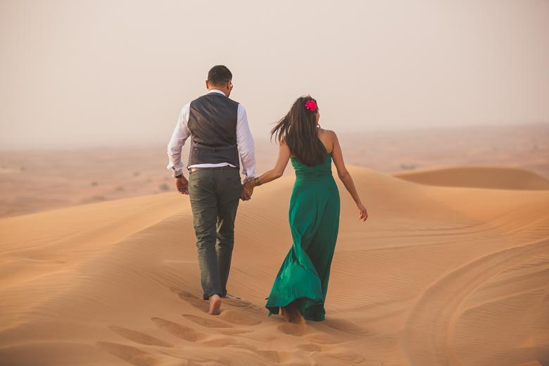 Dubai desert pre wedding shoot
