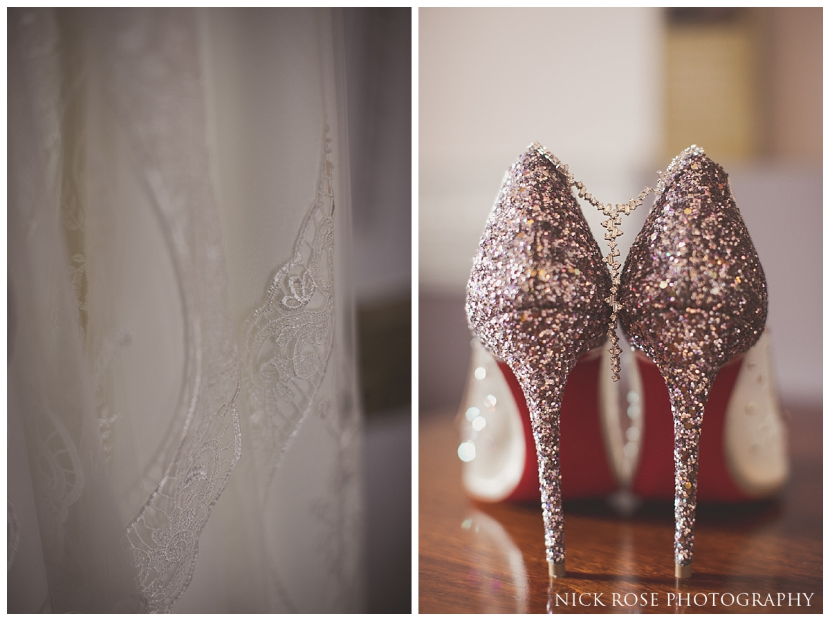 Wedding shoes for a Buxted Park hotel wedding in East Sussex