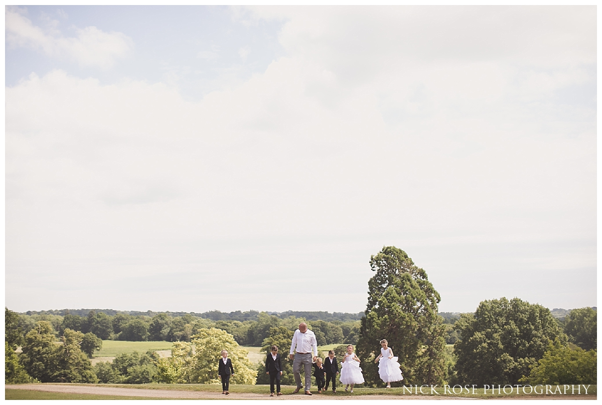 Summer wedding photography at Buxted Park