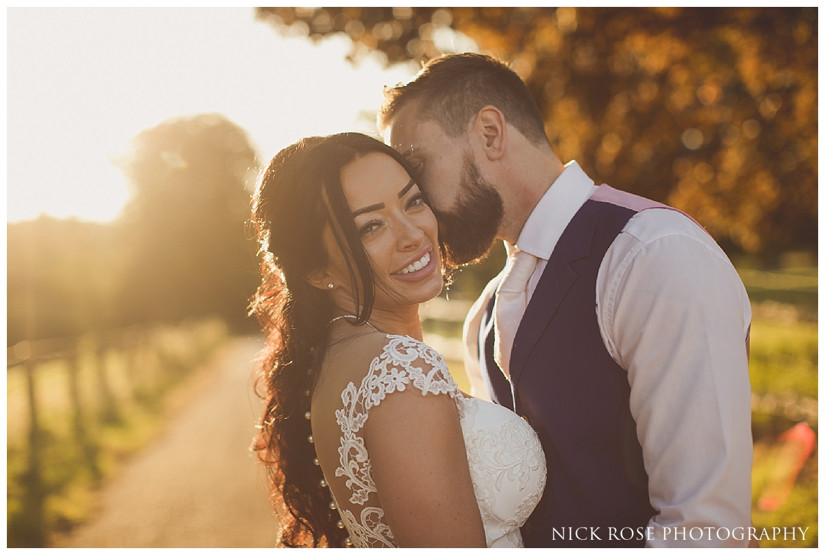 Sunset wedding photography at Buxted Park in East Sussex