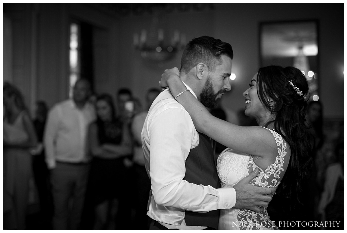 First dance at a Buxted Park wedding