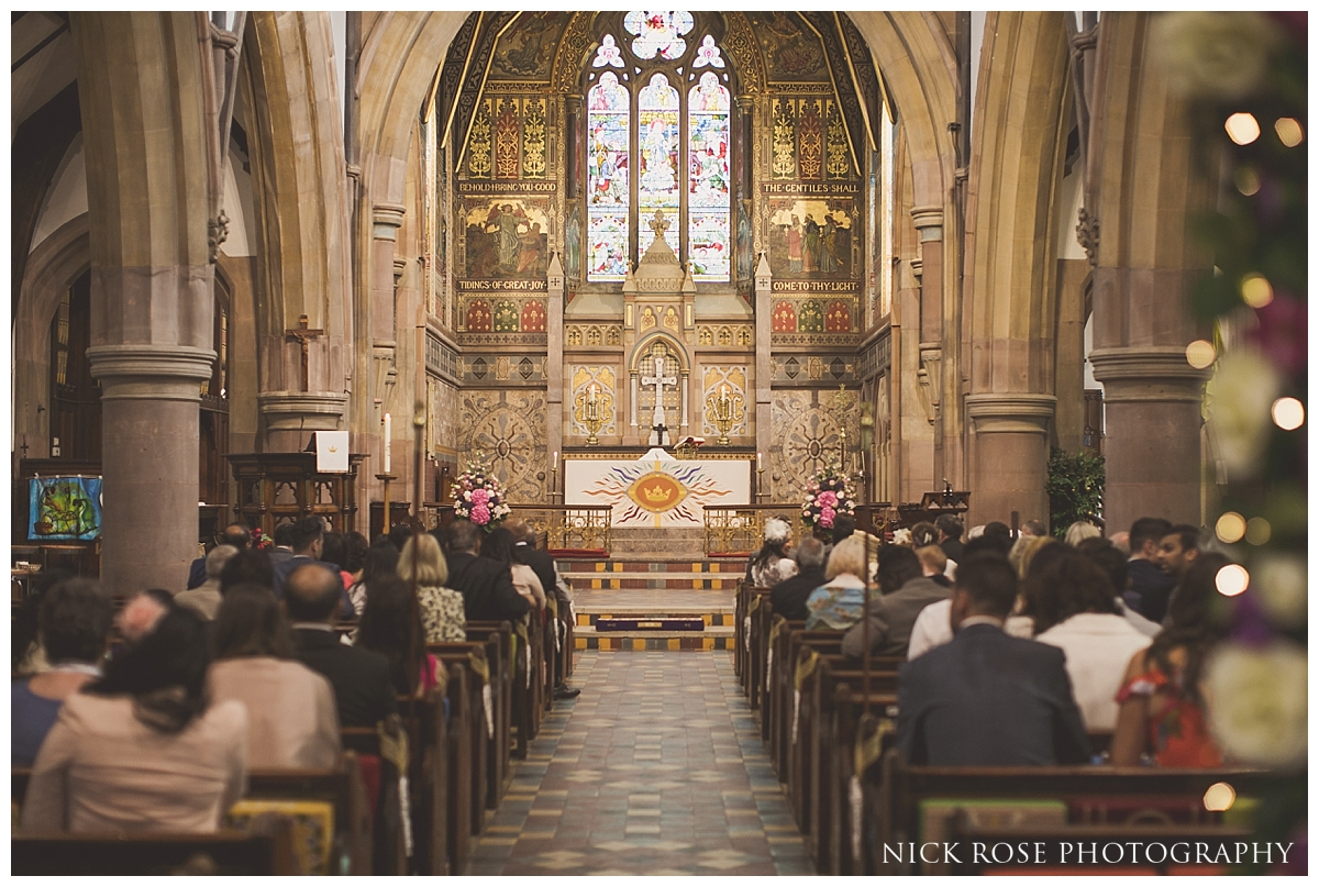 Catholic wedding ceremony at St Mary Magdalene Church in Enfield London