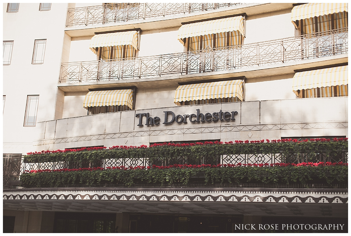 The Dorchester London wedding preparation venue