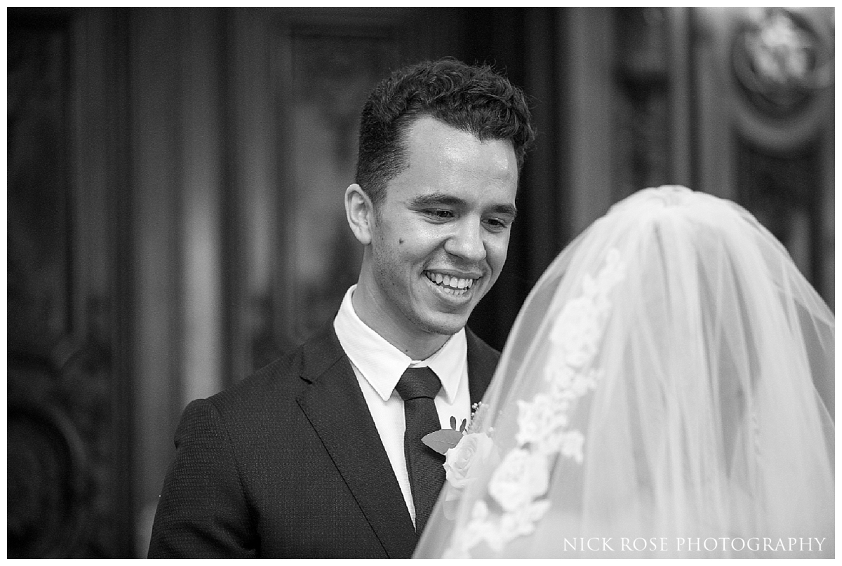 Wedding ceremony at Dartmouth House in London's Mayfair