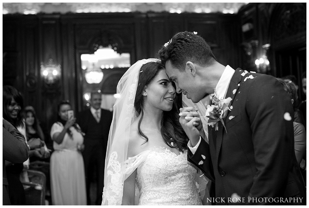 Bride and groom married at Dartmouth House in Mayfair London