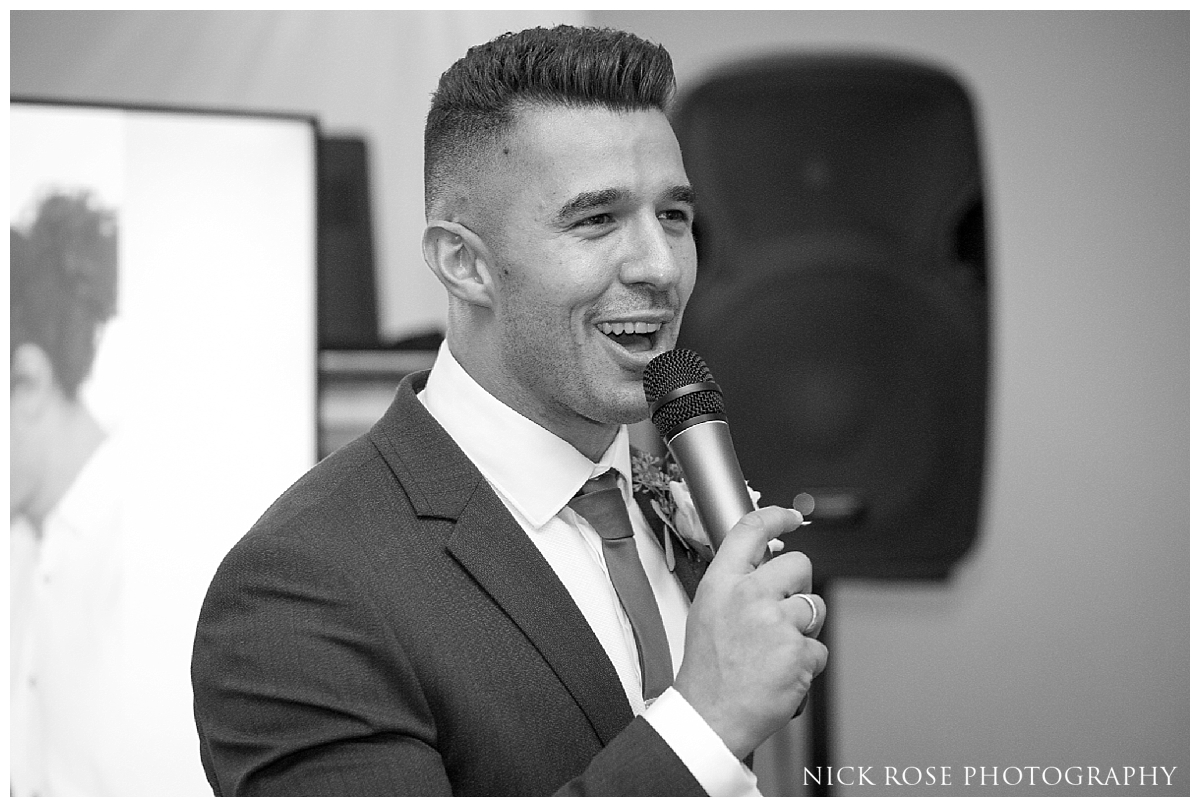 Best mans speech for a London wedding at Dartmouth House