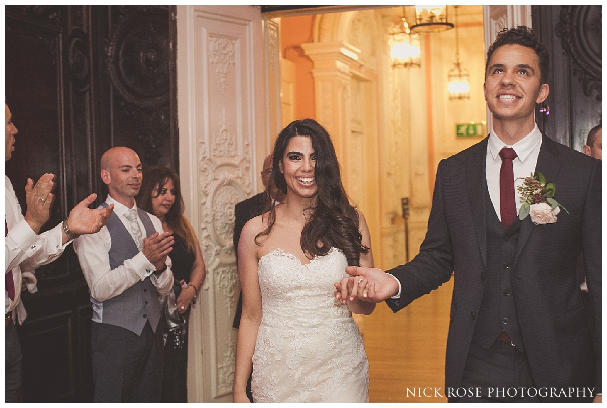 Wedding reception photography at Dartmouth House London
