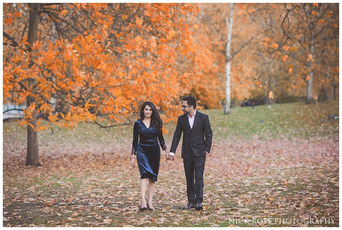 Indian pre wedding photography in St James's Park London