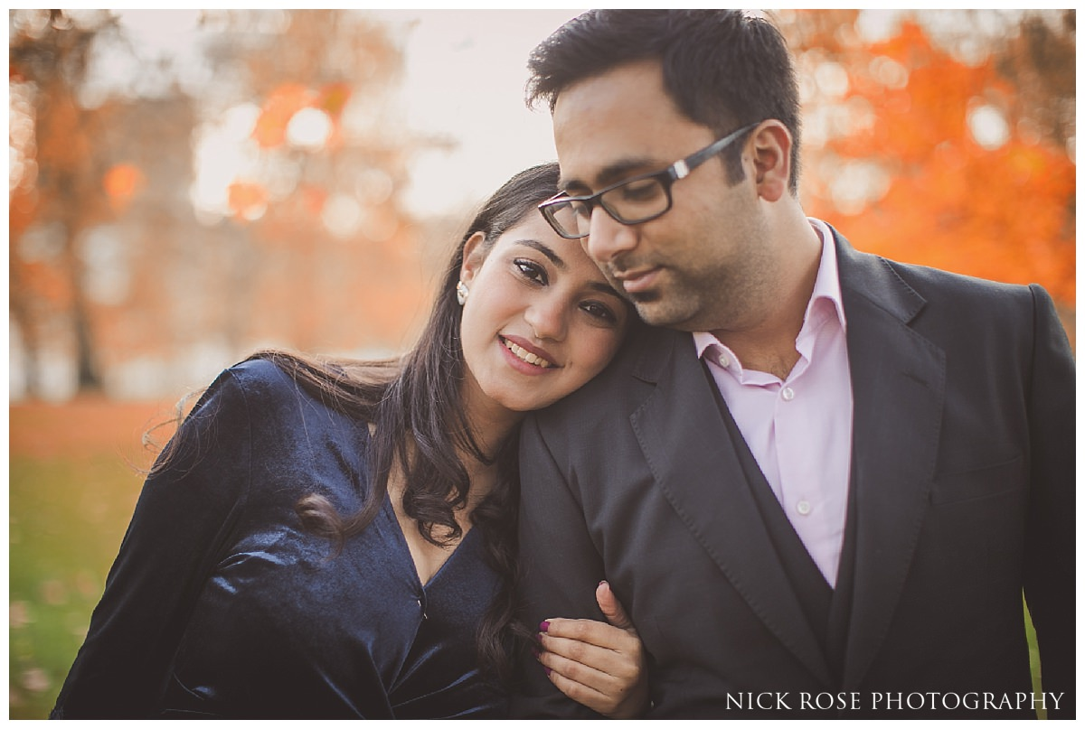 Autumn pre Pre wedding photography in St James's Park London
