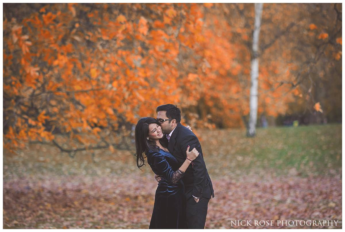 A UK pre wedding photography shoot in St James's Park
