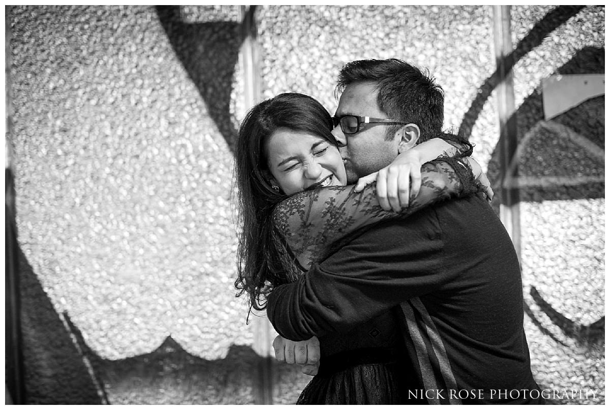 UK destination pre wedding photography in London England with a couple from Pune, India