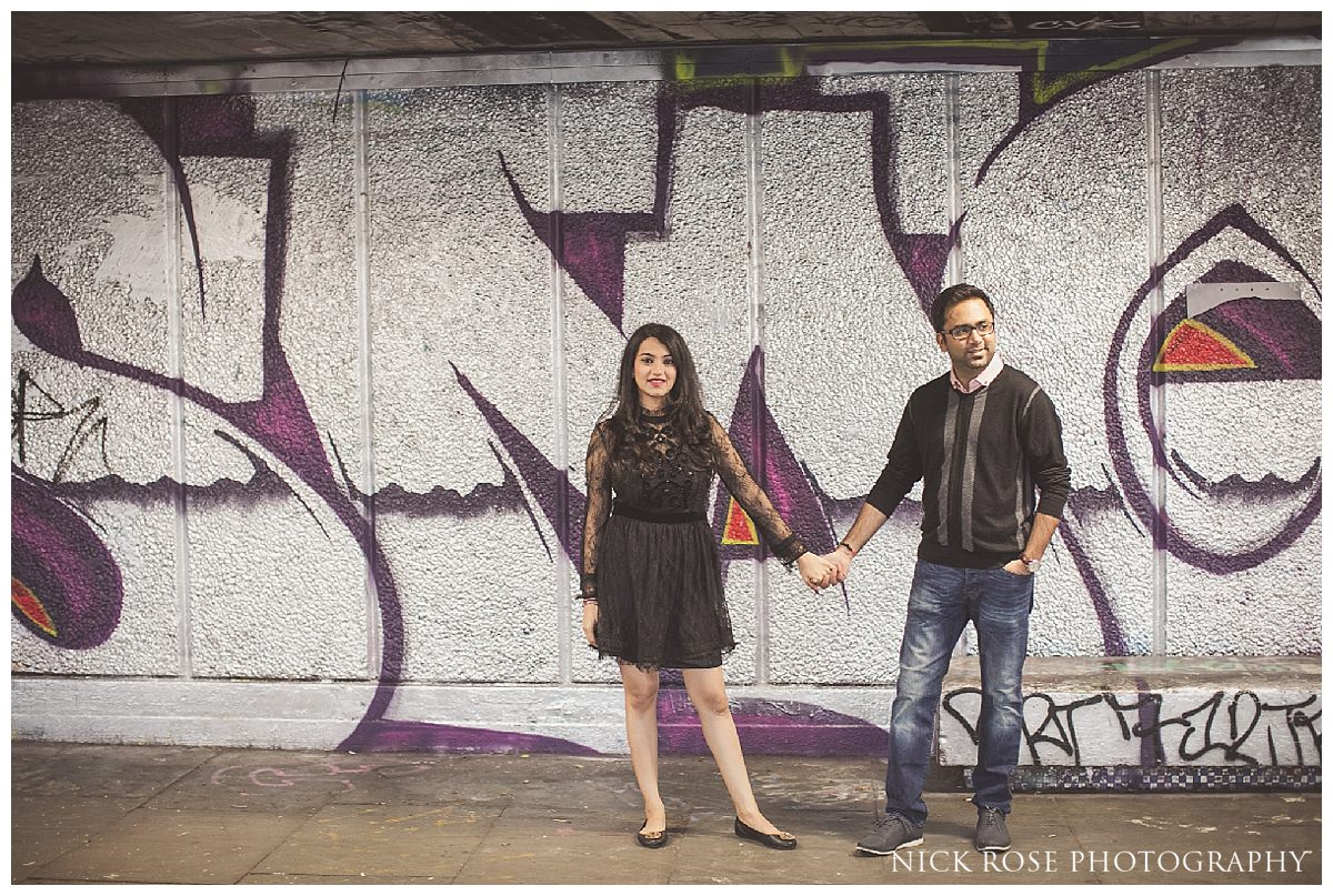 Southbank pre wedding photography in London England