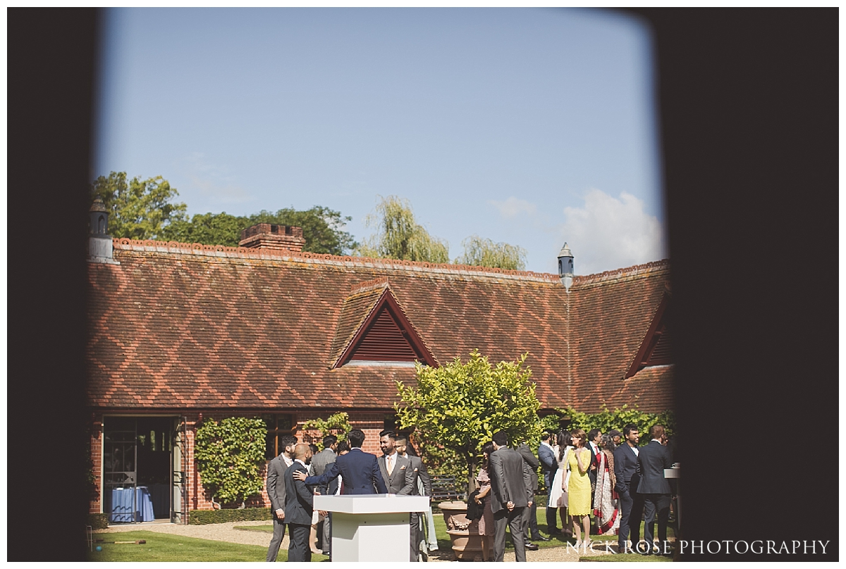 Outdoor wedding reception at The Dairy in Waddesdon Manor Buckinghamshire