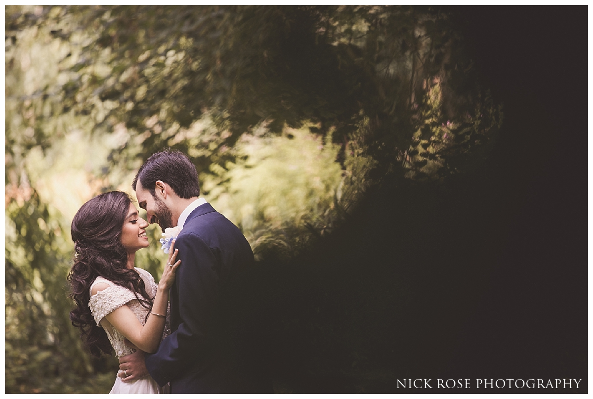 Bride and groom romantic wedding photography portrait by Nick Rose Photography at the Dairy in Waddesdon Manor in Buckinghamshire