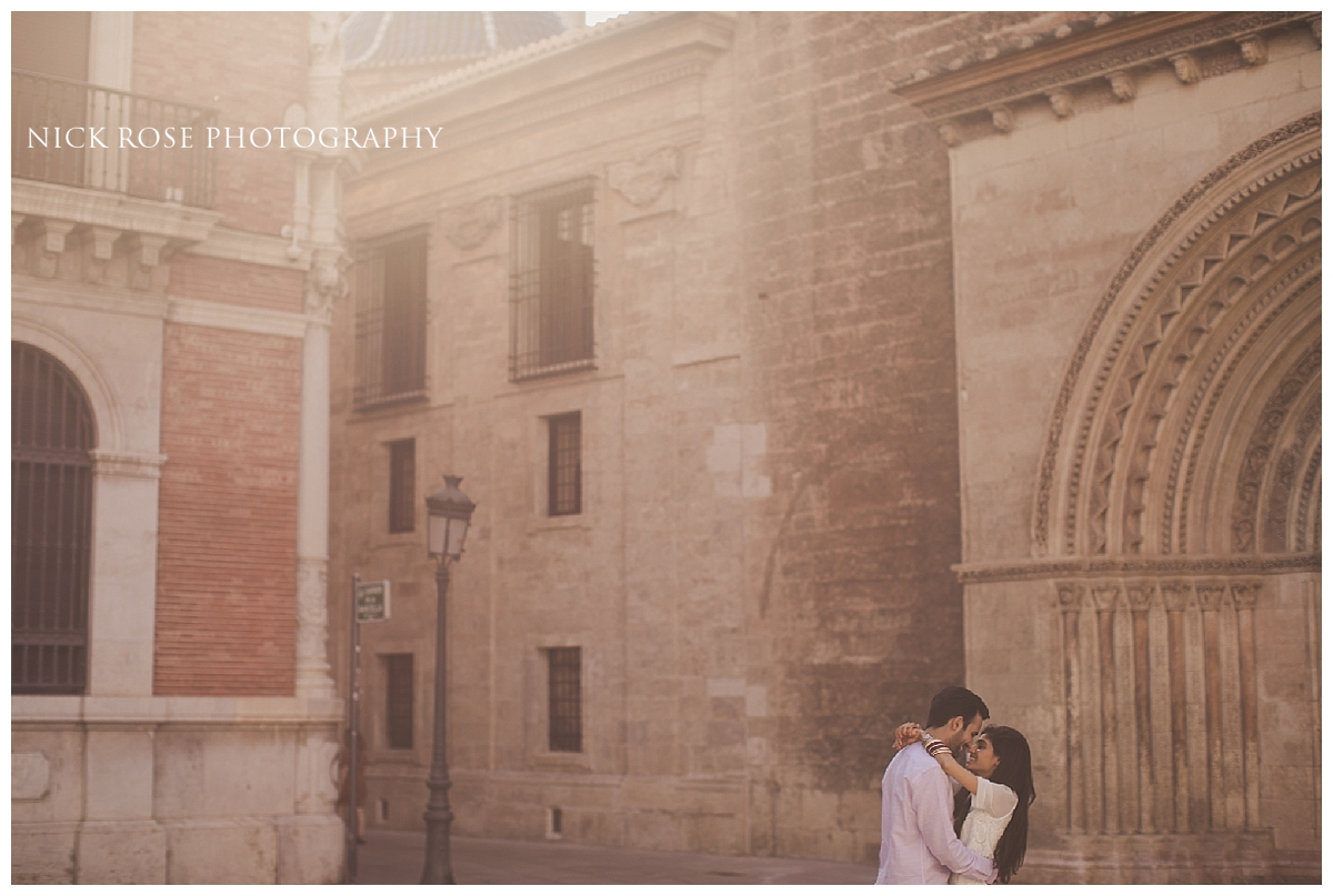 Destination pre wedding photography in Valencia, Spain