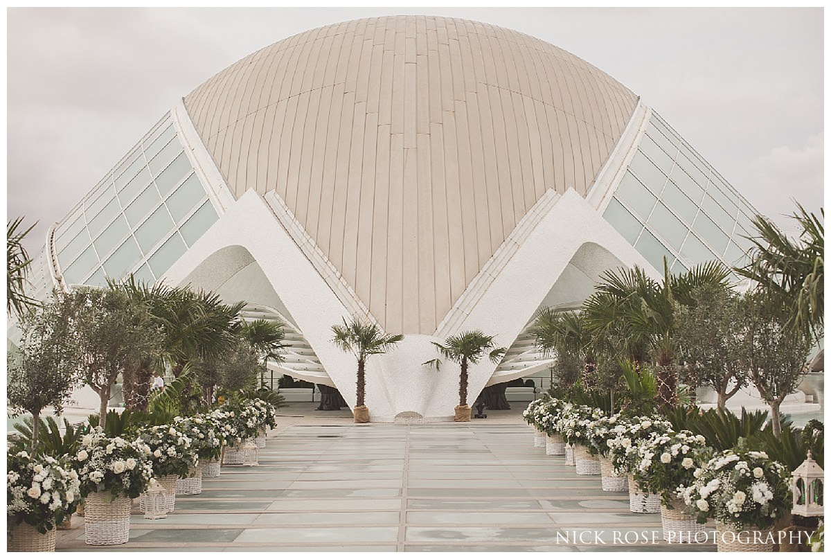 Destination Sikh wedding reception in The Hemisfèric, City of Arts, Valencia