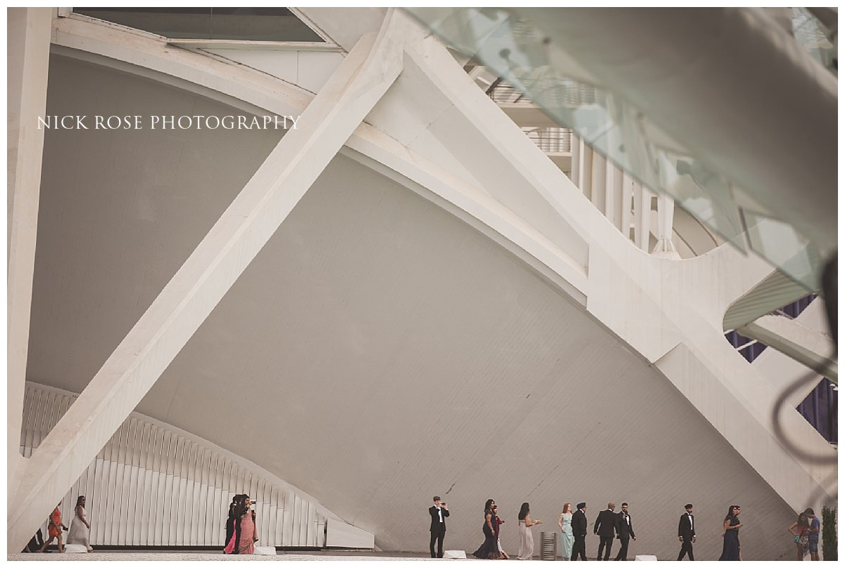 destination Sikh wedding reception at The Hemisfèric, City of Arts, Valencia