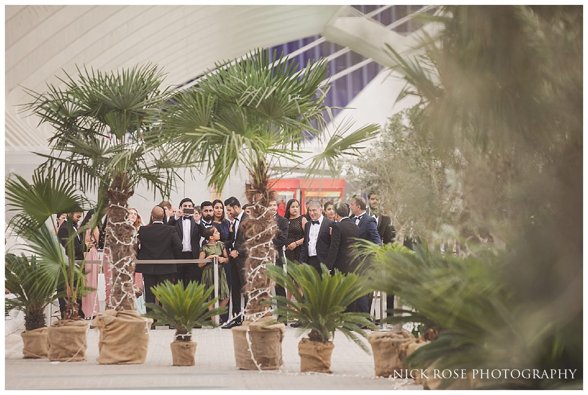 Spanish Sikh wedding reception at The Hemisfèric, City of Arts, Valencia