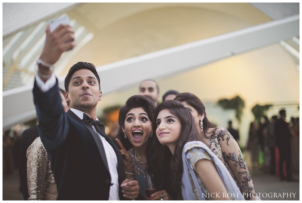 Asian wedding reception photography at The Hemisfèric, City of Arts in Valencia, Spain