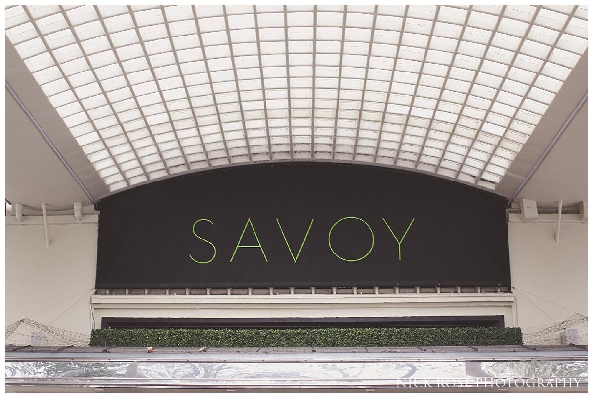 Savoy wedding photography London