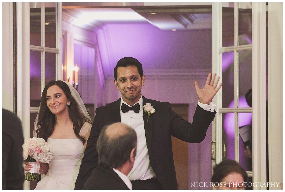 Wedding reception at The Savoy London