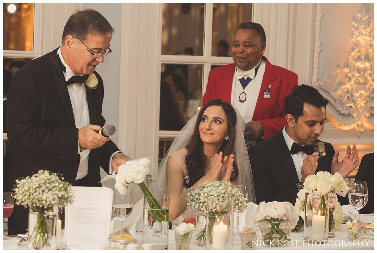 Wedding speeches at The Savoy London England