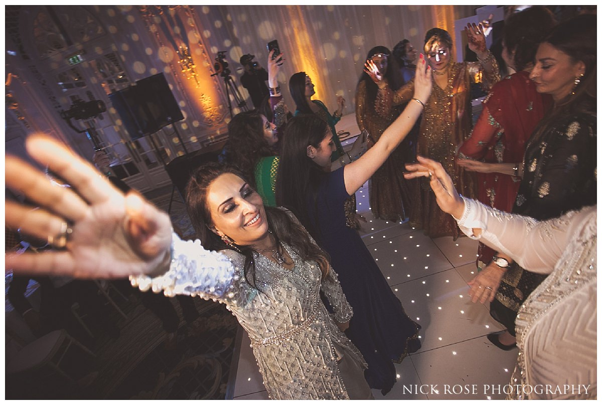 Wedding reception dancing at The Savoy Hotel