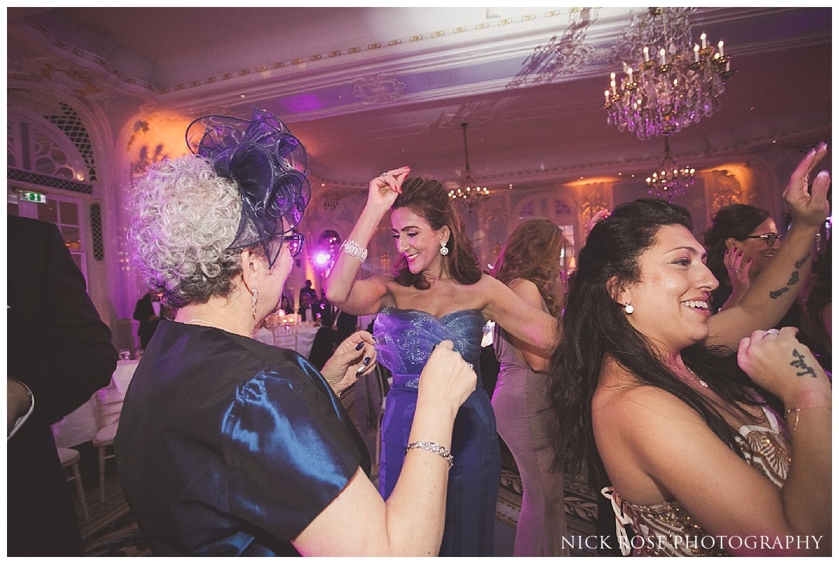 London wedding reception photography at The Savoy