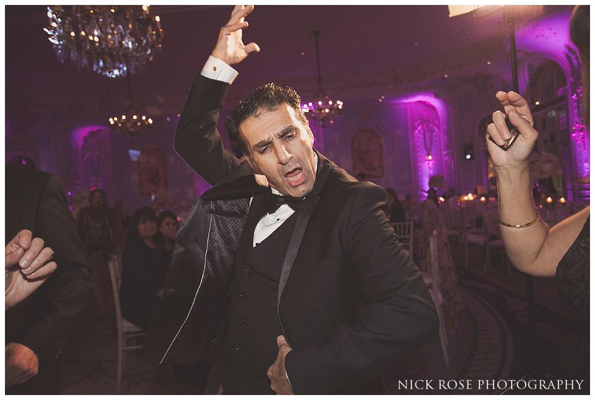 Evening wedding reception at The Savoy London