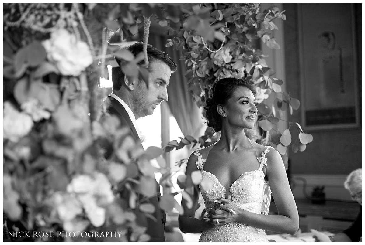Civil ceremony for an Indian wedding at Stoke Park in Buckinghamshire