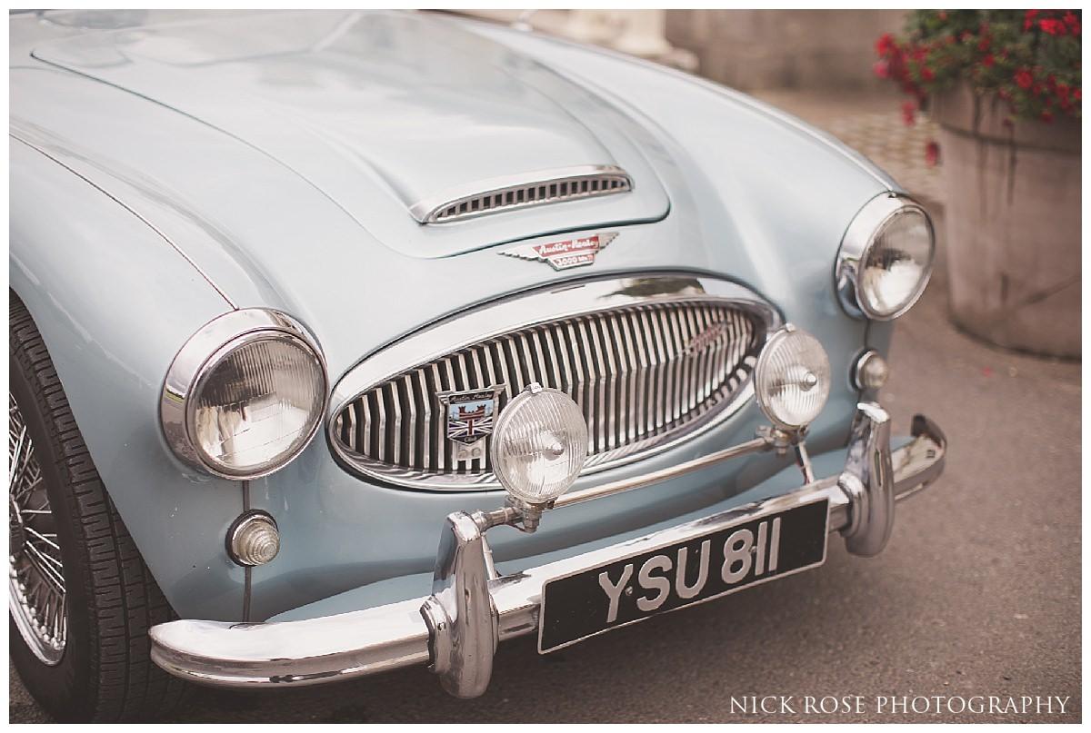 Wedding car at Stoke Park