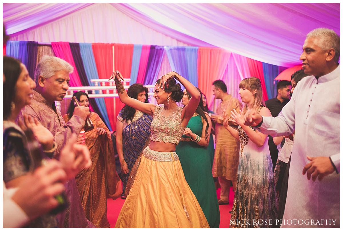 Indian wedding mehndi night for a hindu wedding in London