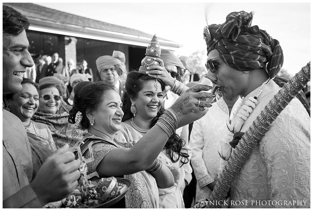 Hindu wedding celebrations at the Potters Bar Oshwal Centre in Hertfordshire