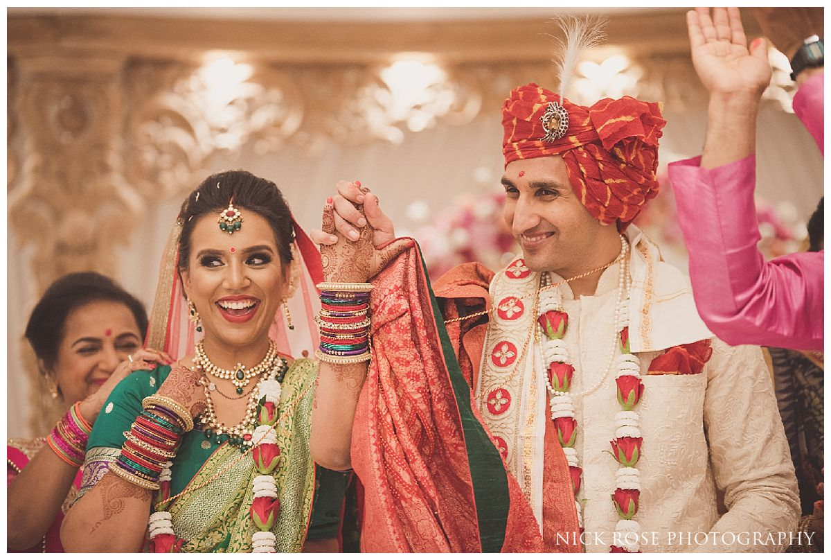 Indian wedding photography in Hertfordshire at the Oshwal Centre