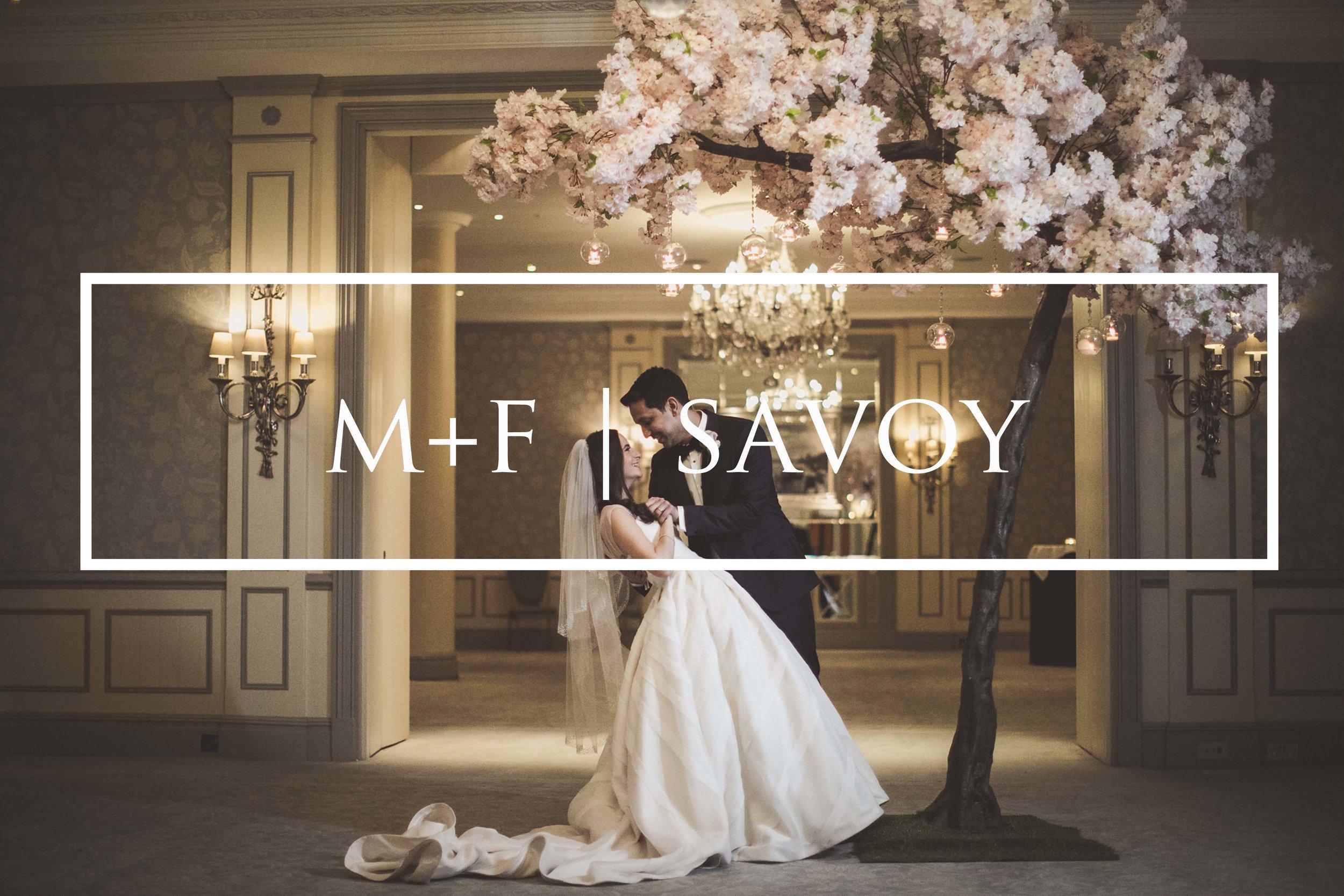 Savoy Hotel London winter wedding photography