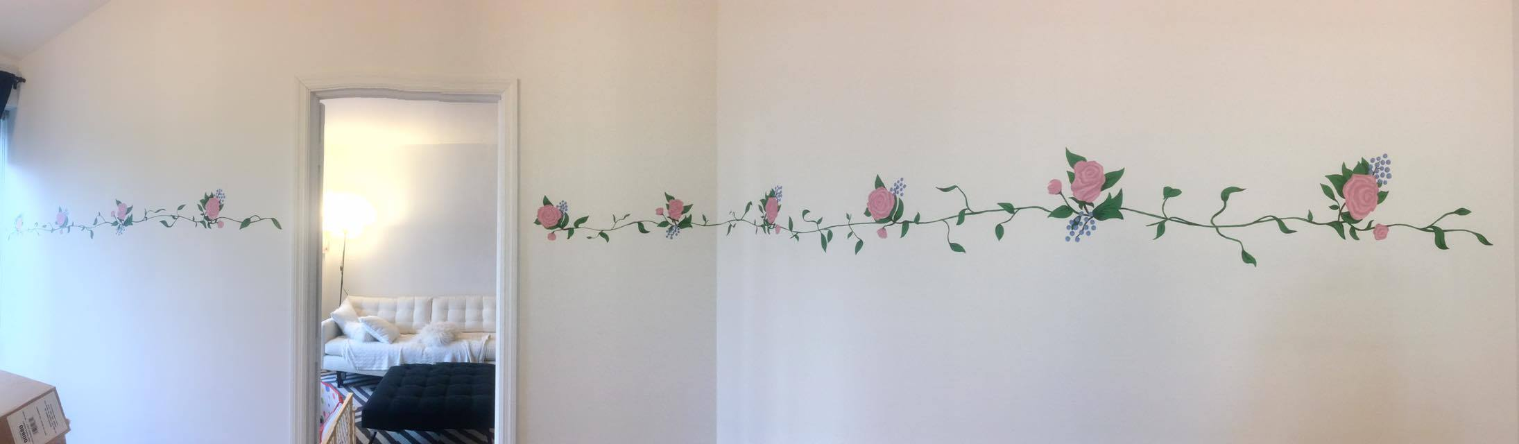 Completed Project: Indoor Rose Mural - 2016