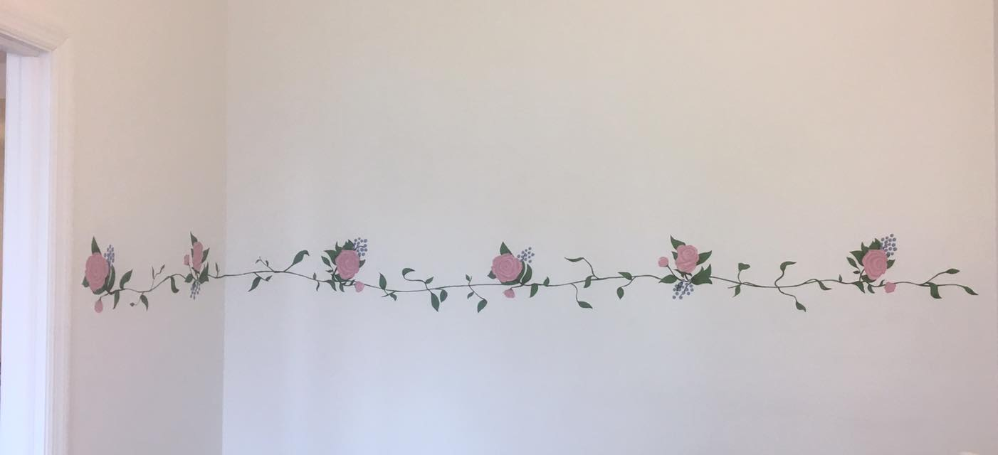 Detail: Completed rose mural - 2016