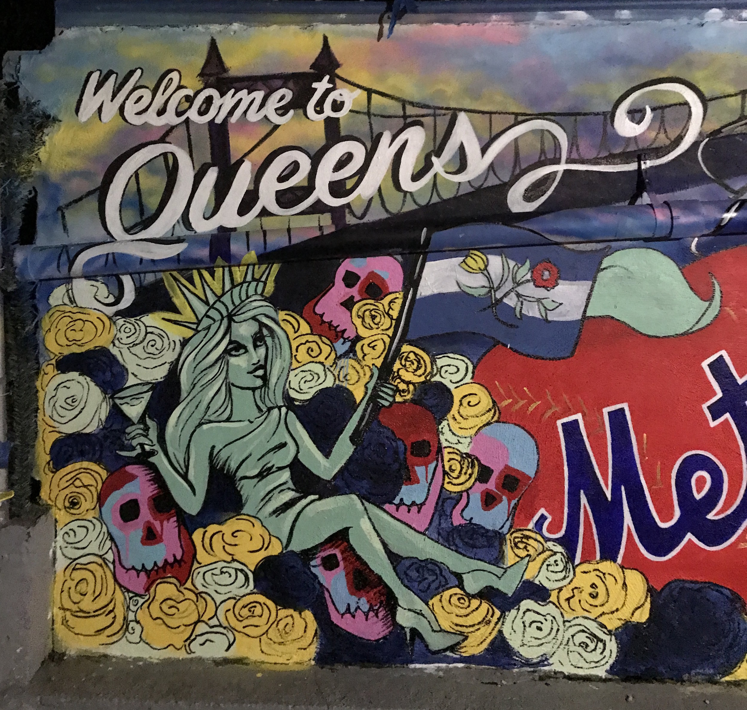 Completed Project: Private backyard Queens Mural -  2017
