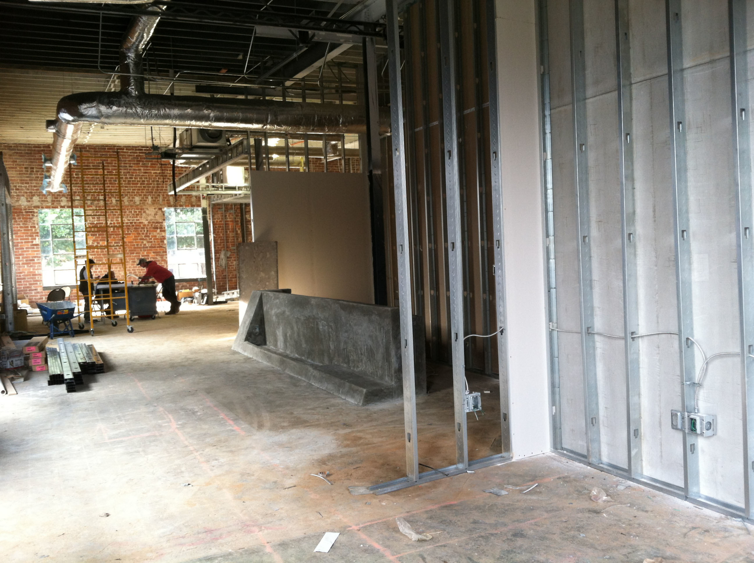 Entry Feature Wall under construction
